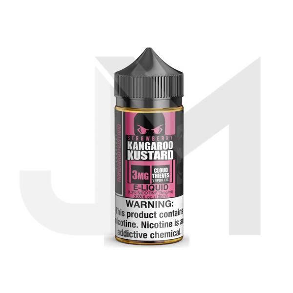 Strawberry Kangaroo Kustard by Cloud Thieves 0mg 100ml Shortfill (80VG/20PG)