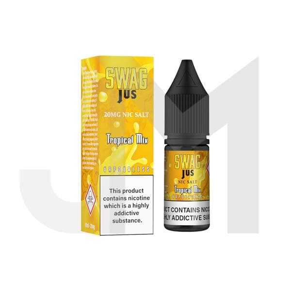 10mg Swag Jus 10ml Vapourless Nic Salts (50VG/50PG)