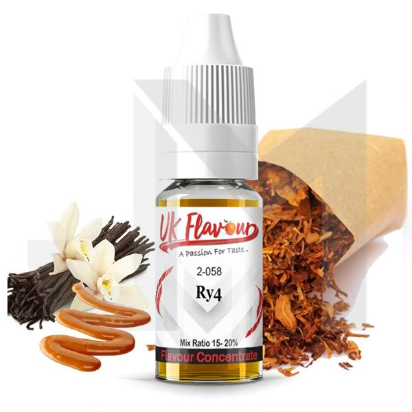 UK Flavour Tobacco Range Concentrate 0mg 10 x  10ml (Mix Ratio 15-20%)