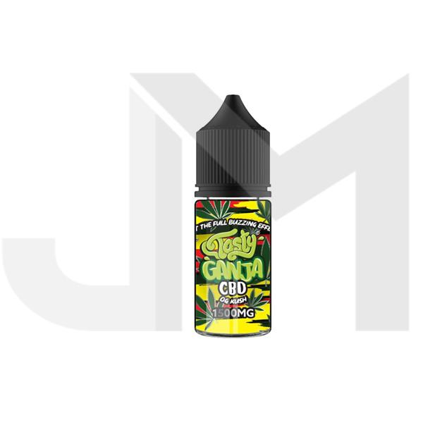 Tasty Ganja 1500mg CBD 30ml Shortfill E-Liquid - OG Kush