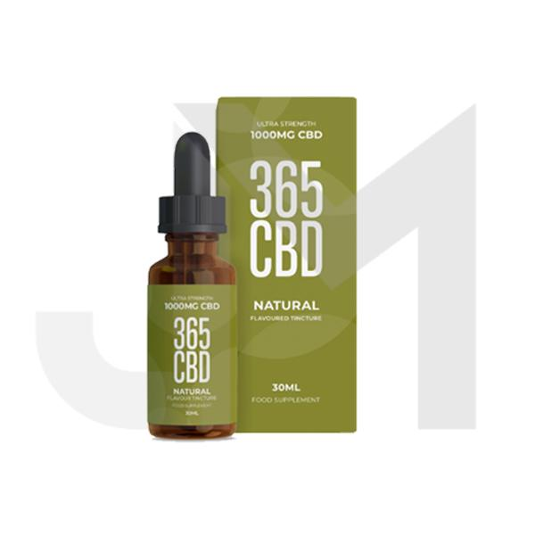 365CBD Flavoured Tincture Oil 1000mg CBD 30ml (Offer Inside!)
