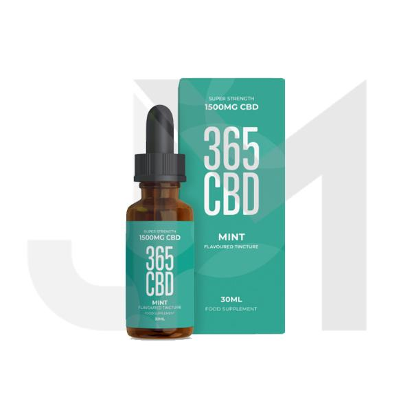 365CBD Flavoured Tincture Oil 1500mg CBD 30ml (Offer Inside!)