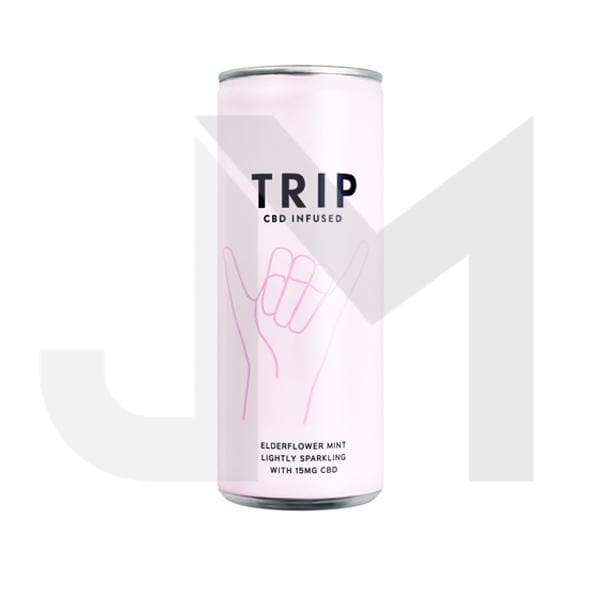 24 x TRIP 15mg CBD Infused Elderflower & Mint Drink 250ml
