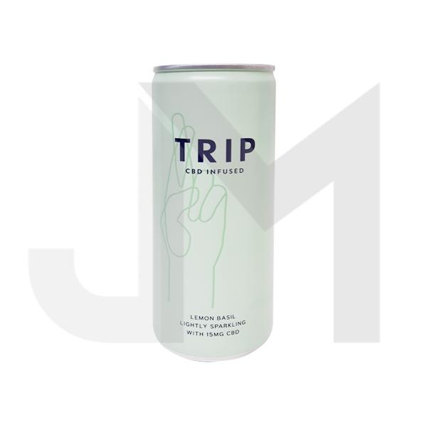 24 x TRIP 15mg CBD Infused Lemon & Basil Drink 250ml