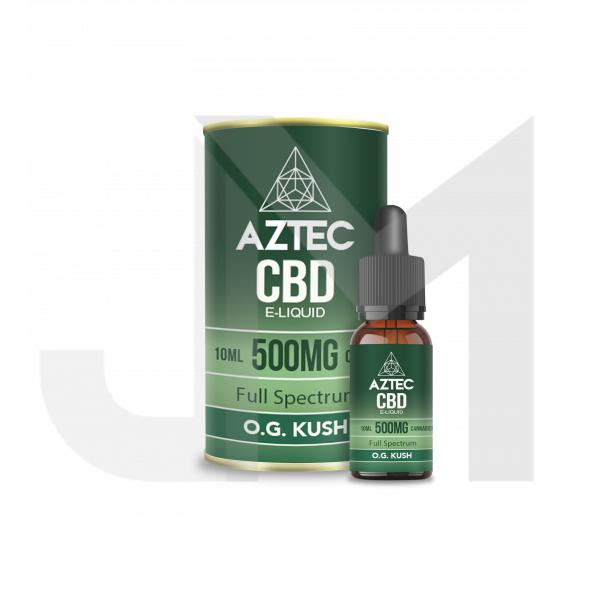Aztec CBD 500mg CBD Vaping Liquid 10ml (50PG/50VG)