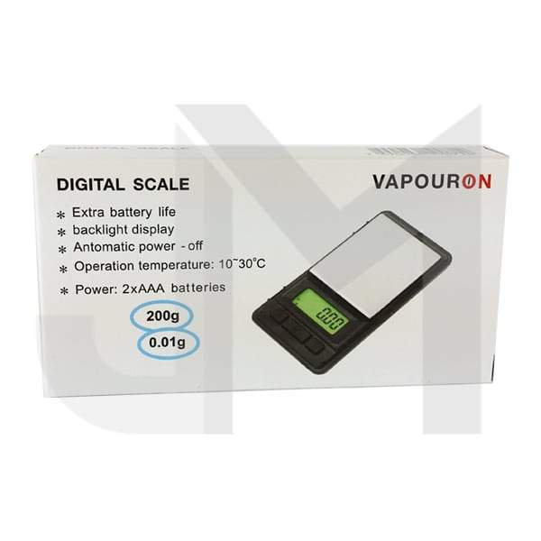 Vapouron 0.01g - 200g Digital Pocket Scale (White VP-038)