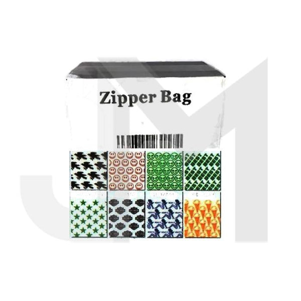 5 x Zipper Branded 2 x 2 printed Baggies