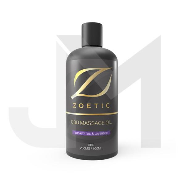 Zoetic 250mg  CBD Massage Oil 100ml - Eucalyptus & Lavender