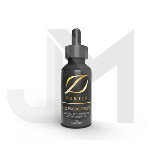 Zoetic 750mg CBD Facial Drops 30ml - With Vitimin C