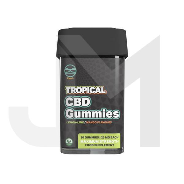 Zoetic 750mg CBD Chill Gummies - Tropical