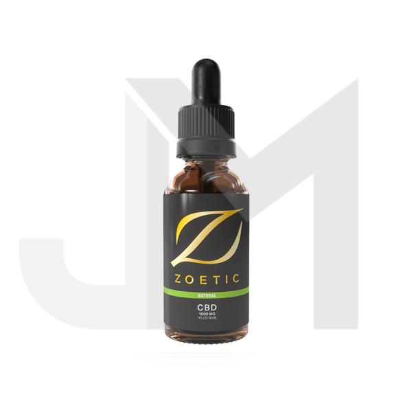 Zoetic 1000mg CBD Oil 30ml - Calming Natural
