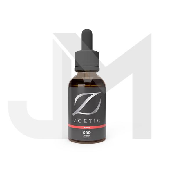 Zoetic 500mg CBD Oil 30ml - Gorgeous Melon