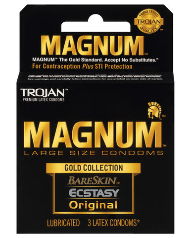 Trojan Magnum Gold Collection - Box Of 3 - RealisticDildos.com