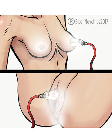 Blush Temptasia Clitoris & Nipple Pleasure Enhancement Pump System - RealisticDildos.com