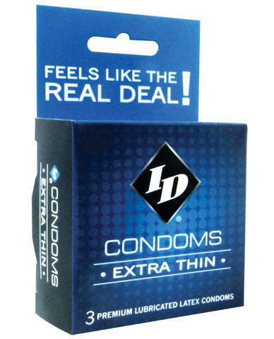 Id Extra Thin Condoms - Box Of 3 - RealisticDildos.com