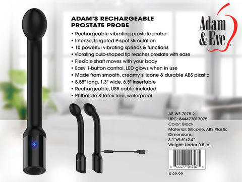 Adams Rechargeable Prostate Probe - realistic enterprises llc