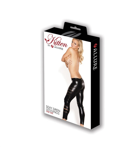 Kitten Sexy Siren Leggings - One Size - Black - realistic enterprises llc