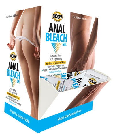 Body Action Anal Bleach Gel 50 Pieces Display - RealisticDildos.com