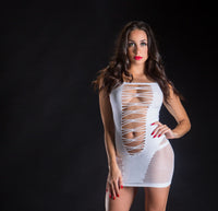 Spaghetti  Strap String Dress - One Size - White - realistic enterprises llc