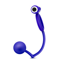 Performance Penetrator Anal Ball With Vibrating Cock Ring - Indigo - realistic enterprises llc