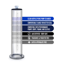 Performance – 12 Inch X 2.5 Inch Penis Pump  Cylinder – Clear - realistic enterprises llc