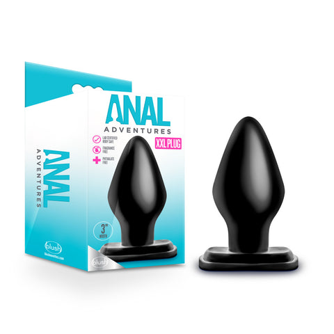 Anal Adventures - XXL Plug - Black - realistic enterprises llc