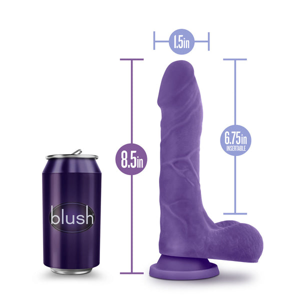Au Naturel - Bold - Thrill - 8.5 Inch Dildo -  Purple - realistic enterprises llc