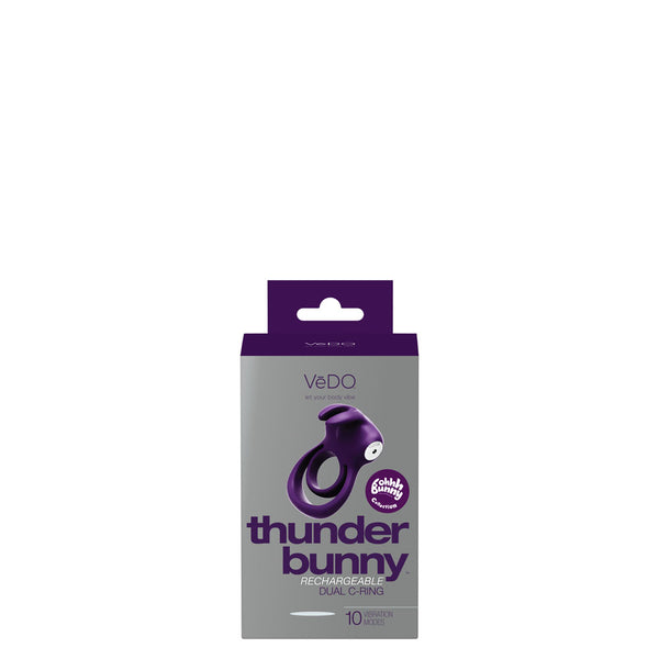 Thunder Bunny Rechargeable Dual Ring - Perfectly Purple - realistic enterprises llc