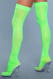 Opaque Nylon Thigh Highs - Neon Green - One Size - realistic enterprises llc
