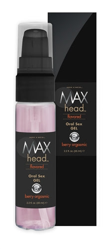 Max 4 Men Max Head Flavored Oral Sex 2.2 Oz - Berry Orgasmic - RealisticDildos.com