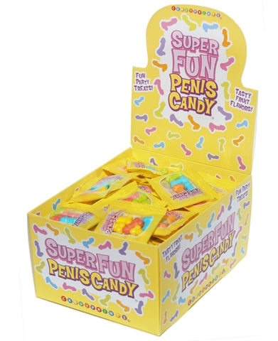 Super Fun Penis Candy - 100 Piece p.o.p Display - 3g Bags - realistic enterprises llc