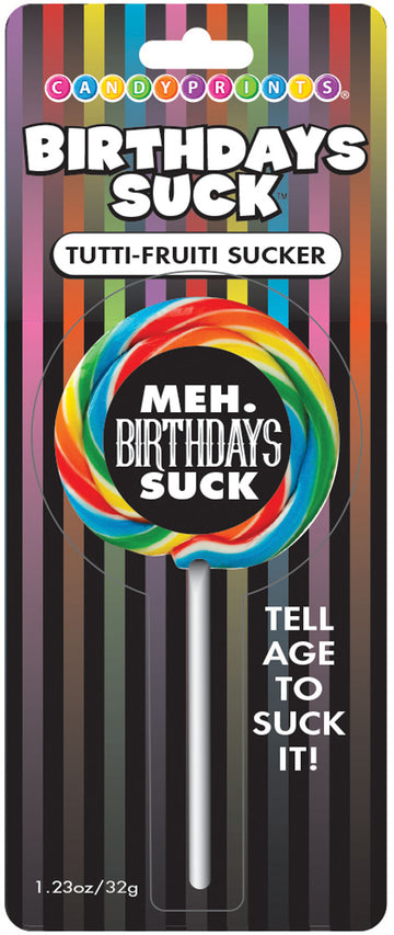 Birthdays Suck Meh Lollipop