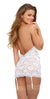 Garterslip With G-String - One Size - White - realistic enterprises llc