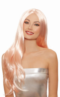 Dreamgirl Long Straight Rose Gold Wig - realistic enterprises llc