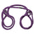 Japanese Style Bondage - Cotton Wrist or Ankle  Cotton Cuffs - Purple - realistic enterprises llc