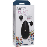 Body Bling - Clit Caress Mini-Vibe in Second Skin Silicone - Silver - RealisticDildos.com