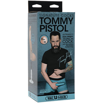 Signature Cocks - Tommy Pistol 7.5 Inch Ultraskyn Cock With Removable Vac-U-Lock Suction Cup