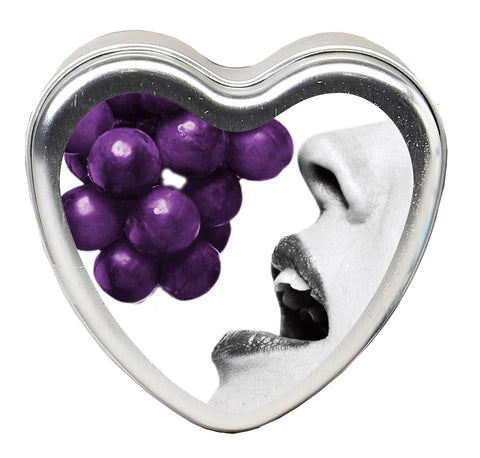 Edible Heart Candle - Grape - 4 Oz. - realistic enterprises llc