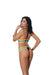 Lycra Bikini Top and Matching G-String With  Chartreuse and Turquoise Trim - One Size - realistic enterprises llc