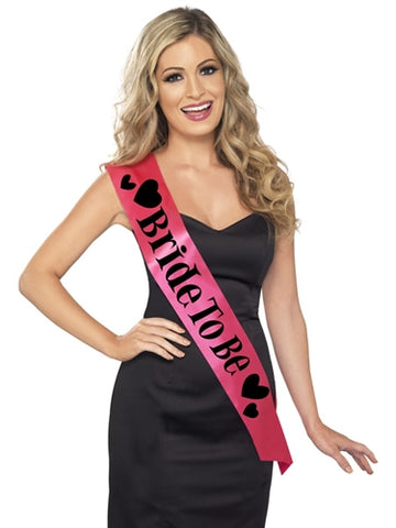 Bride to Be Sash - Pink - RealisticDildos.com