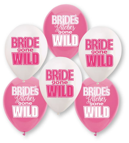 Bride Gone Wild Balloon Assortment - 6 Count - RealisticDildos.com