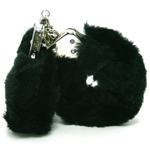 Plush Love Cuffs - Black - RealisticDildos.com