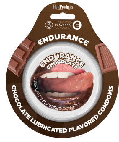 Endurance Condoms - Chocolate -3 Pack - RealisticDildos.com