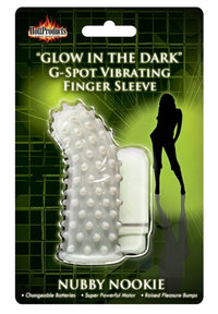 Glow in the Dark Vibrating Nubby Nookie  Finger Sleeve - realistic enterprises llc