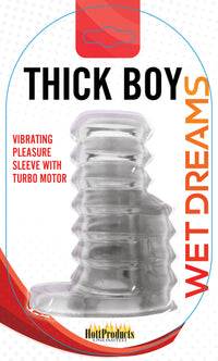 Thick Boy Turbo Sleeve - Clear - realistic enterprises llc