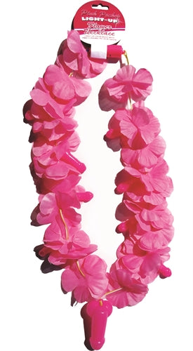 Pink Pecker Light-Up Flower Necklace - realistic enterprises llc