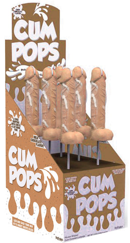 Cum Cock Pops - Milk Chocolate - 6 Piece P.O.P.  Display - realistic enterprises llc
