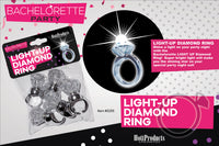Light Up Diamond Ring 5 Pk - realistic enterprises llc