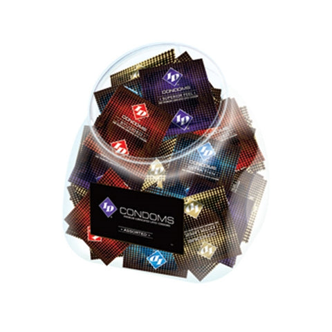 ID Condoms - Assorted - 144 Piece Jar - realistic enterprises llc