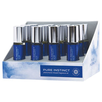 Pure Instinct Pheromone Fragrance Oil True Blue Roll on 12 Pc Display - realistic enterprises llc